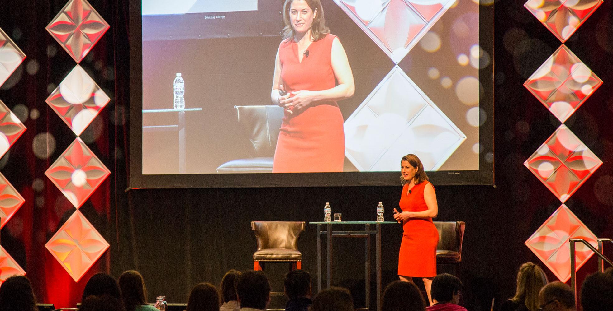 Susan Salgado speaking at Idea Exchange