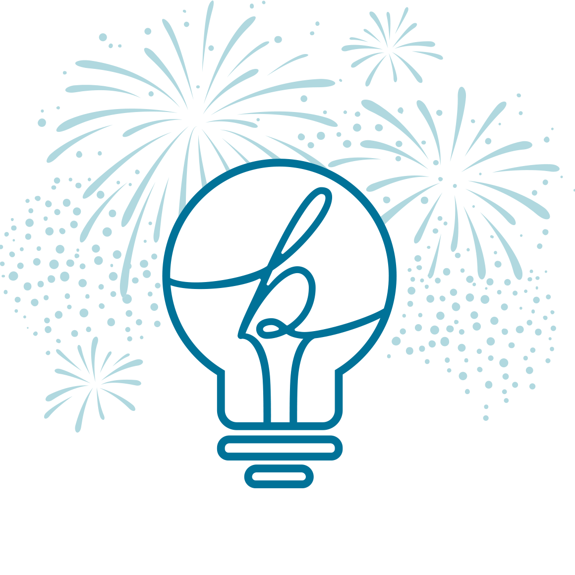 Idea Exchange logo with fireworks
