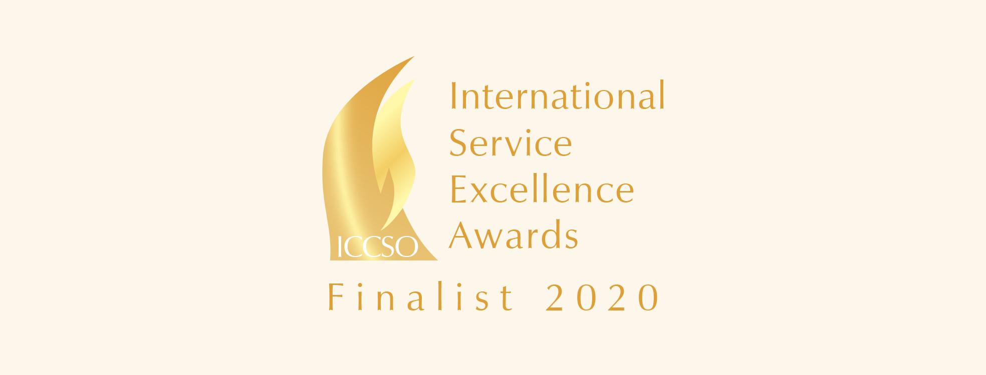 International Service Excellence Awards Finalist 2020