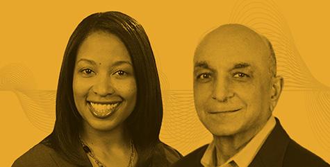 Carla Pollard Stewart and Sanjiv Anand