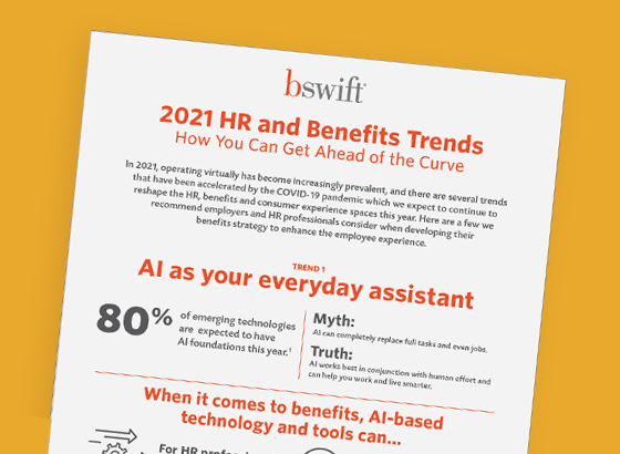 2021 HR and Benefits Trends Infographic Thumbnail