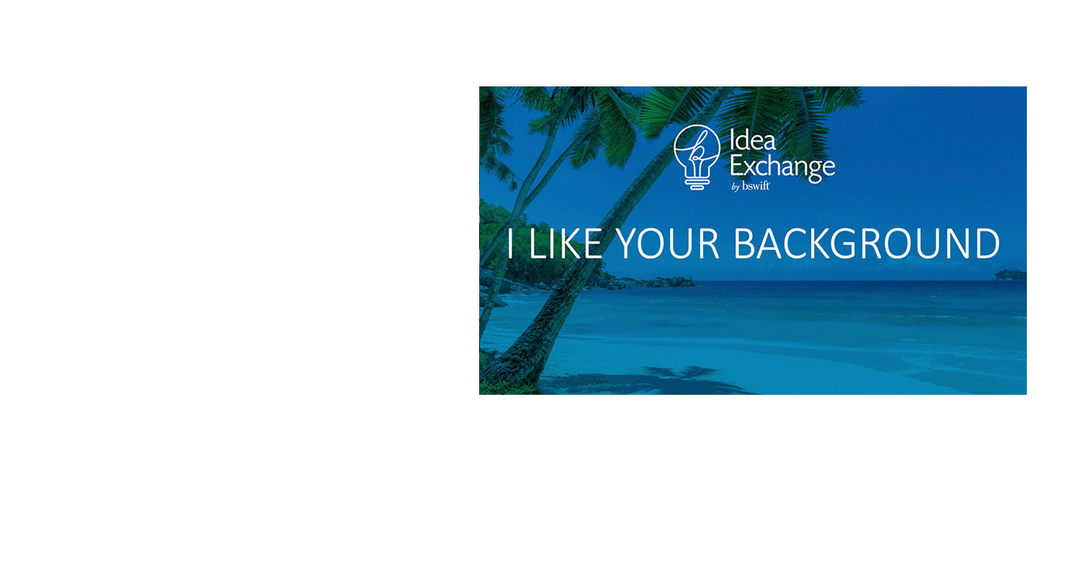 Cover of I Like Your Background PPT Deck