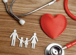 A family, stethoscope and a heart